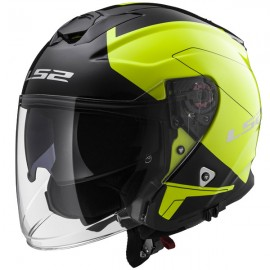 LS2 Infinity BEYOND Black Hi-Vis Yellow